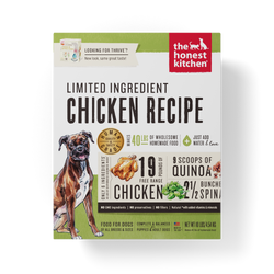 15% OFF + FREE GIFT Honest Kitchen Limited Ingredient Chicken Dehydrated Dog Food - Thrive