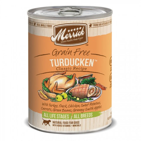 Merrick Grain Free Turducken Canned Dog Formula - Push Pets Singapore