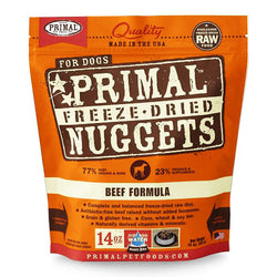 BUY 1 GET 1 FREE Primal Freeze-Dried Beef Nuggets for Dogs - Push Pets Singapore