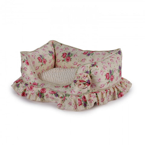 AFP Shabby Chic Bolster Bed Cream Medium