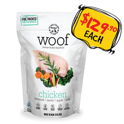 WOOF Freeze Dried Raw Chicken Dog Food