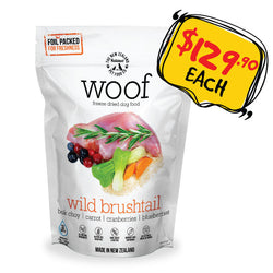 WOOF Freeze Dried Raw Wild Brushtail Dog Food
