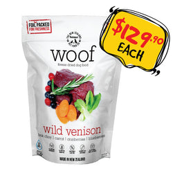WOOF Freeze Dried Raw Wild Venison Dog Food