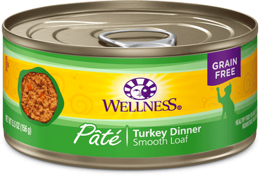 Wellness Complete Health Grain Free Turkey Pate Canned Cat Food