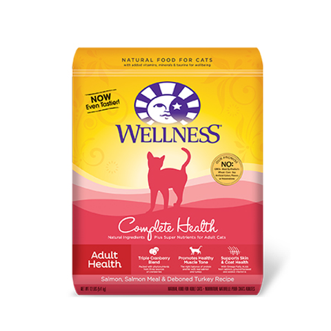 Wellness Complete Health Salmon, Salmon Meal & Deboned Turkey Dry Cat Formula - Push Pets Singapore