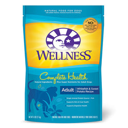 20% OFF + FREE GIFT Wellness Complete Health Whitefish & Sweet Potato Dry Dog Food - Push Pets Singapore