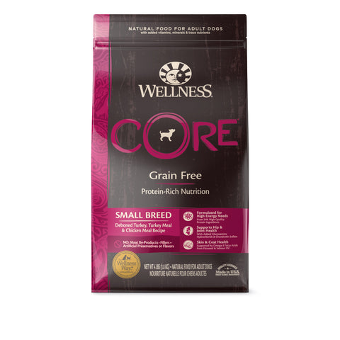 20% OFF + FREE GIFT Wellness CORE Grain Free Small Breed Dry Dog Food - Push Pets Singapore