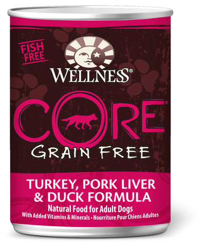 Wellness CORE Grain Free Turkey, Pork Liver & Duck Canned Dog Food