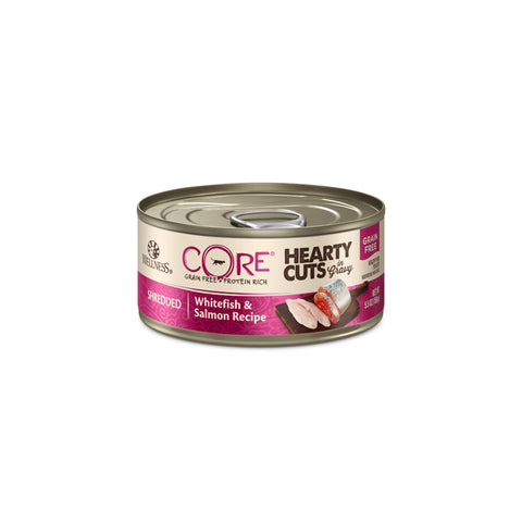 Wellness CORE Hearty Cuts Grain Free Shredded Whitefish & Salmon Canned Cat Food
