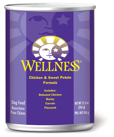 Wellness Complete Health Chicken & Sweet Potato Canned Dog Food - Push Pets Singapore
