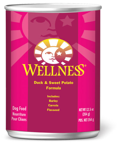 Wellness Complete Health Duck & Sweet Potato Canned Dog Food - Push Pets Singapore