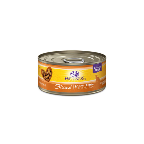 Wellness Grain Free Sliced Chicken Entree Canned Cat Food, 5.5oz - Push Pets Singapore