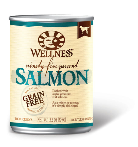 Wellness Mixers & Toppers 95% Salmon Canned Dog Food - Push Pets Singapore