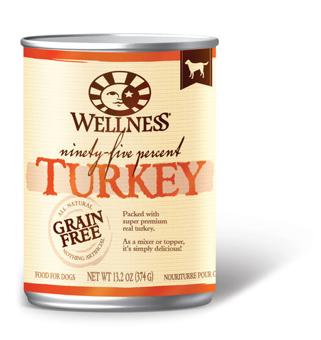 Wellness Mixers & Toppers 95% Turkey Canned Dog Food - Push Pets Singapore