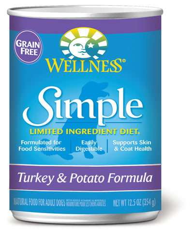 Wellness Simple Grain Free Turkey & Potato Canned Dog Food
