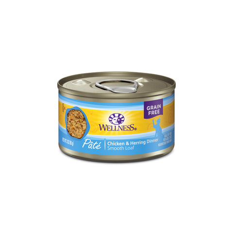 Wellness Complete Health Grain Free Chicken & Herring Canned Cat Food