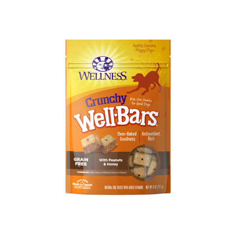 Wellness WellBars Crunchy Peanuts & Honey Dog Treats
