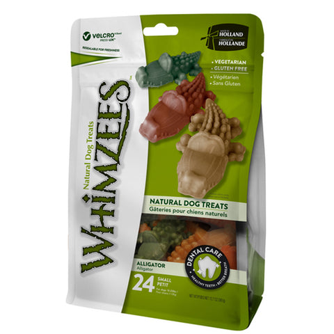 Whimzees Natural Dog Chews Value Bag (Alligator)
