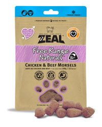 Zeal Chicken & Beef Morsels Treats for Cats and Dogs 100g
