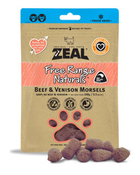 Zeal Beef & Venison Morsels Treats for Cats and Dogs 100g