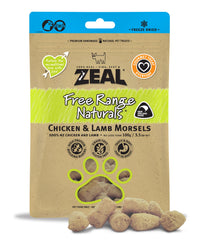 Zeal Chicken & Lamb Morsels Treats for Cats and Dogs 100g