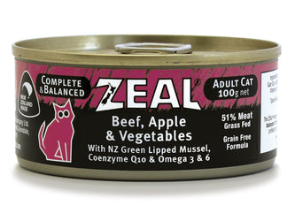 Zeal Beef, Apple & Vegetables Adult Wet Cat Food