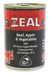 Zeal Beef, Apple & Vegetables Adult Wet Dog Food