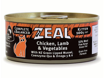 Zeal Chicken, Lamb & Vegetables Kitten Wet Cat Food