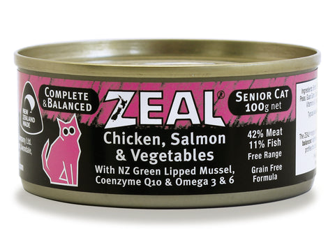 Zeal Chicken, Salmon & Vegetables Senior Wet Cat Food