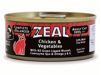 Zeal Chicken & Vegetables Adult Wet Cat Food