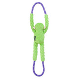 ZippyPaws Monkey RopeTugz Green
