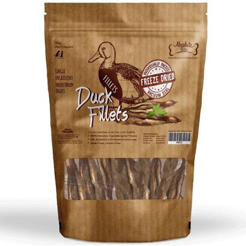 Absolute Bites Freeze Dried Duck Fillet