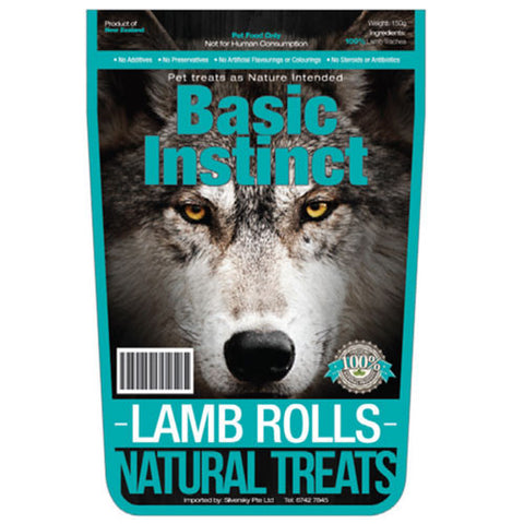 Basic Instinct Lamb Rolls - Push Pets Singapore