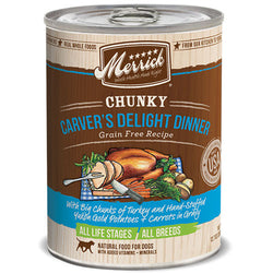 Merrick Grain Free Chunky Carver's Delight Dinner Canned Dog Food - Push Pets Singapore