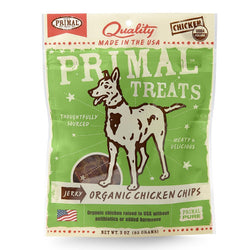 Primal Jerky Organic Chicken Chips for Dogs - Push Pets Singapore