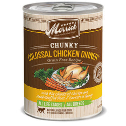 Merrick Grain Free Chunky Colossal Chicken Dinner Canned Dog Food - Push Pets Singapore