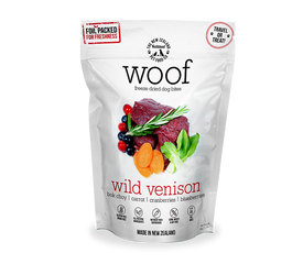WOOF Freeze Dried Raw Wild Venison Dog Treats 50g