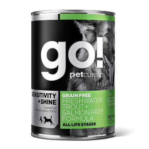 Petcurean Go! Sensitivity + Shine Trout and Salmon Pate Canned Dog Food - Push Pets Singapore