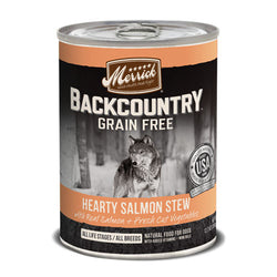 Merrick Backcountry Grain Free Hearty Salmon Stew Canned Dog Food - Push Pets Singapore