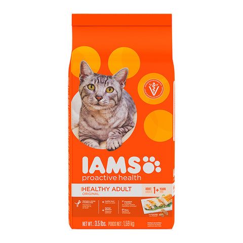 Iams ProActive Health Adult Original with Chicken Dry Cat Food, 3kg - Push Pets Singapore