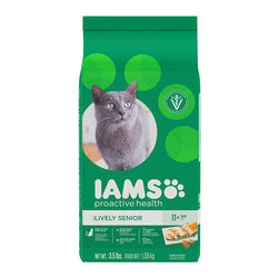 Iams ProActive Health Lively Senior Dry Cat Food, 2.55kg - Push Pets Singapore