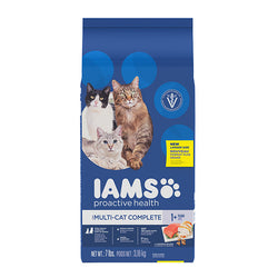 Iams ProActive Health Multi-Cat with Chicken & Salmon Dry Cat Food, 3kg - Push Pets Singapore