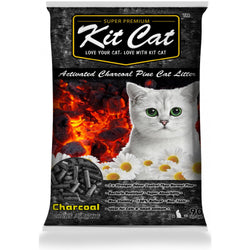 Kit Cat Activated Charcoal Pine Cat Litter 20lbs - Push Pets Singapore