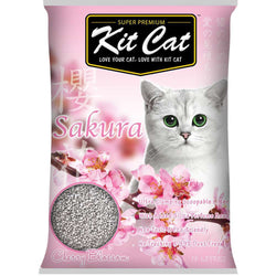 Kit Cat Sakura Scented Cat Litter 10L - Push Pets Singapore