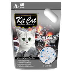 Kit Cat Crystal Charcoal Cat Litter 5L - Push Pets Singapore