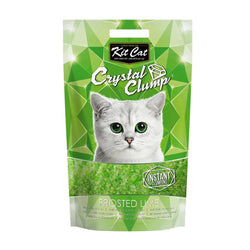 Kit Cat CrystalClump Frosted Lime Cat Litter 4L - Push Pets Singapore