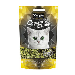 Kit Cat CrystalClump Sparkling Charcoal Cat Litter 4L - Push Pets Singapore