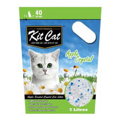 Kit Cat Crystal Apple Cat Litter 5L - Push Pets Singapore
