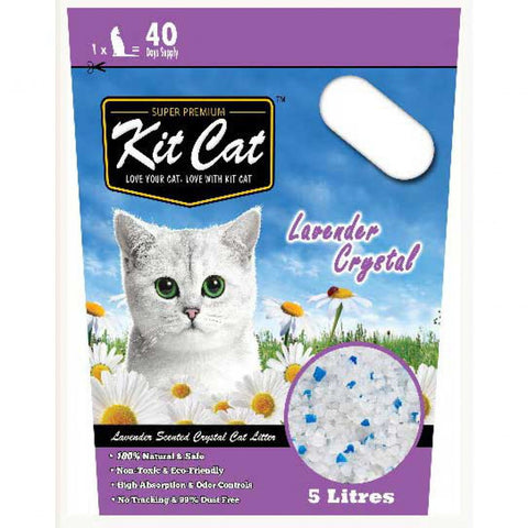 Kit Cat Crystal Lavendar Cat Litter 5L - Push Pets Singapore
