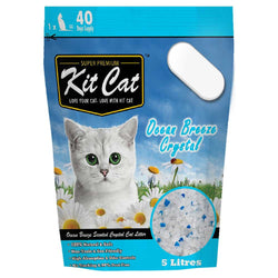 Kit Cat Crystal Ocean Breeze Cat Litter 5L - Push Pets Singapore